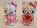 Fig37: 3D origami Hello Kitty