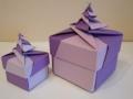 A10.Origami spirál dobozok lila