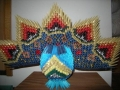 3d origami páva