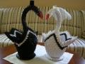 H3.Origami hattyúpár dekoráció