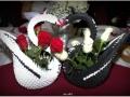 H2.Origami esküvői hattyúpár főasztalra