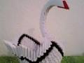 H4.Fehér origami hattyú dekoráció