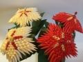 K35.sz. 3d origami Mikulás virág