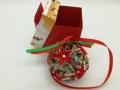 K.37sz Karácsonyi átlátszó gömb díszdobozban