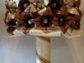 K-F12.sz. Liliom csokor barna-vaj