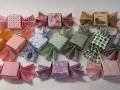 Cukor alakú origami bonbontartó