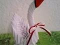 3d origami kis fehér hattyú vendégajándék