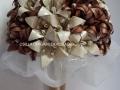 Mcs27.sz Barna-ekrü menyasszonyu liliomcsokor