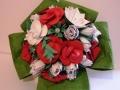 Mcs 4.sz.Fehér-piros rózsacokor