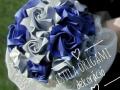 Mcs.65.sz Ezüst-kék rózsacsokor