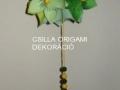 G8.sz.origami zöld virág kusudama gömb
