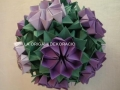 G9.sz. origami lila virág gömb