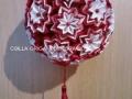 """G1.sz.origami piros-fehér """"vénusz"""" gömb"""