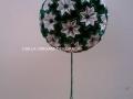 """G3.sz.origami zöld-fehér """"vénusz"""" gömb"""