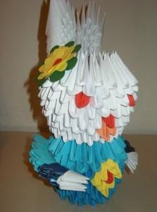3d origami húsvéti nyuszi