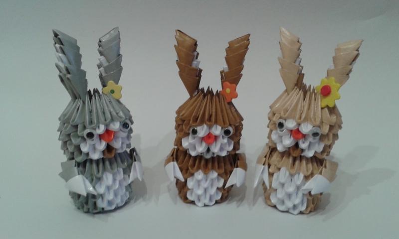 Fig12: 3D origami Nyuszika
