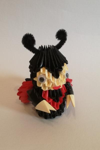 Fig4: 3D origami Katicabogár