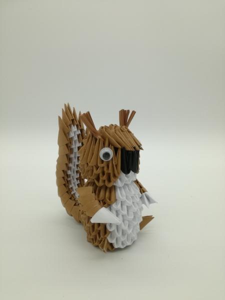 Fig31: 3D origami Mókus