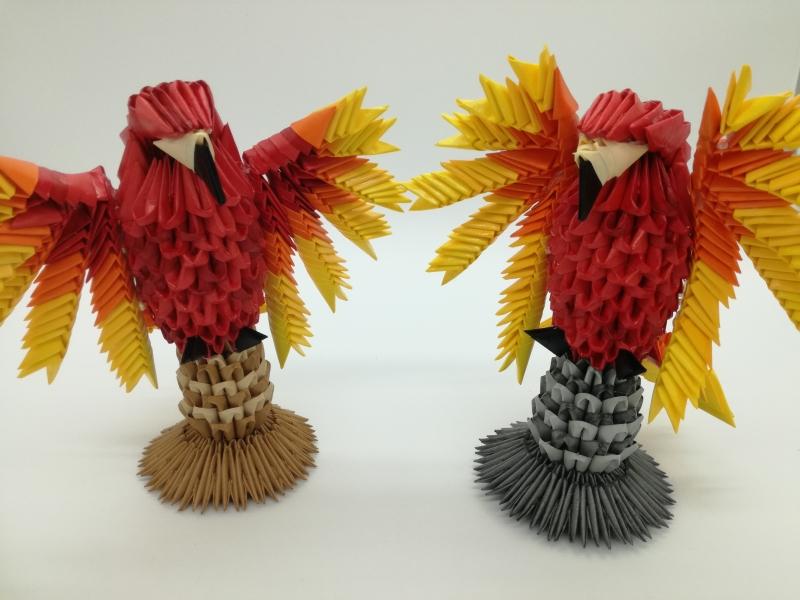 Fig71: 3D origami Főnix tűzmadár