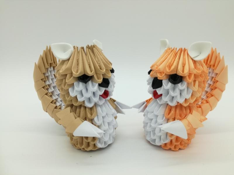 Fig73: 3D origami kis Mókus