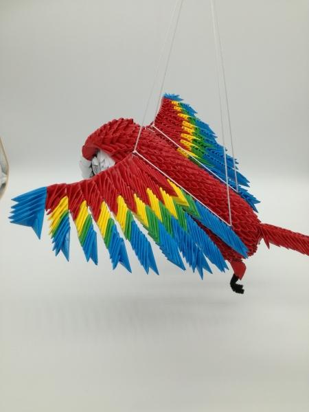 Fig 83: 3d origami Ara papagáj