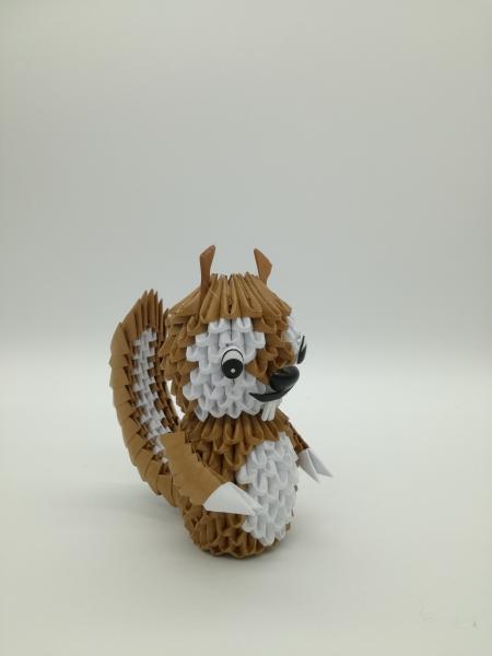 Fig 88: 3d origami mókus