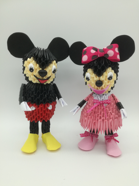 Fig. 93:3d Origami Micky és Minnie