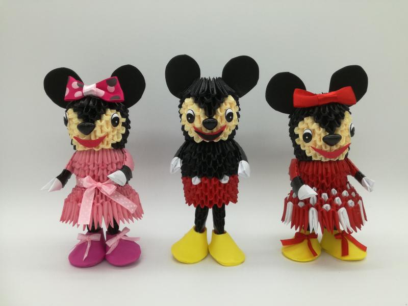 Fig. 93:3d Origami Micky és Minnie