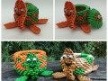 Fig.175.sz 3d origami teknős