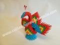 Fig45: 3D origami Páva