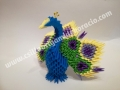 Fig43: 3D origami Páva