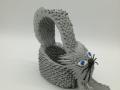 Fig.200.sz.3d origami Nyújtózkodó cica tároló