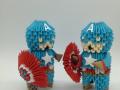 Fig. 95. 3d origami Amerika kapitány levehető pajzzsal