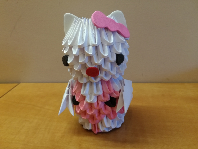 A21. 3d origami Hello Kitty