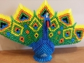 A 17. 3D origami páva
