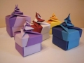 Origami spirál dobozok