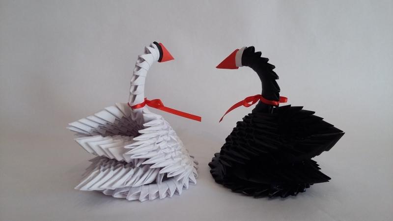 H14.sz Origami hattyúpár vendégajándéknak