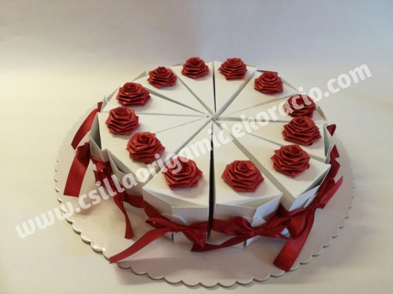 H18.sz Vendégajándék torta