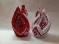 H14. sz Origami hattyúpár piros-fehér