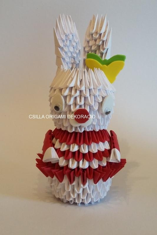 H 1. 3d origami Nyuszi lány