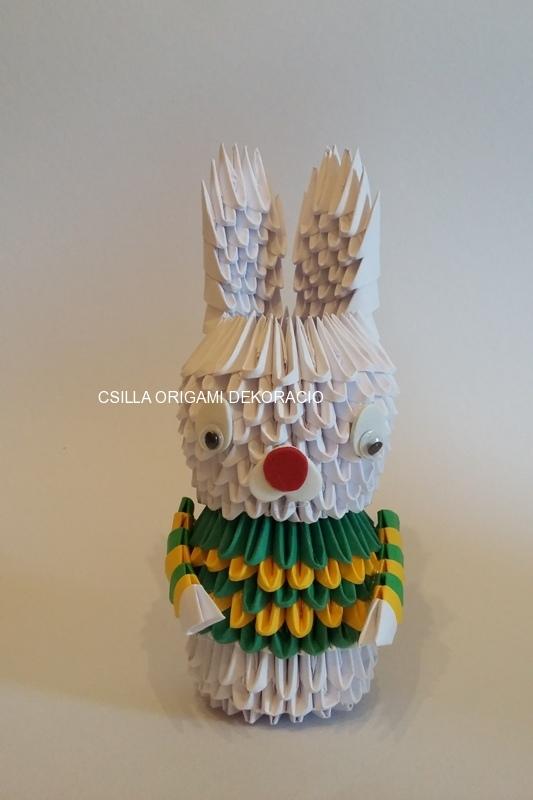 H 1. 3d origami Nyuszi fiú