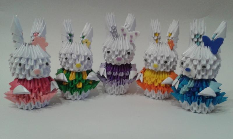H 7. 3d origami Nyuszi lány