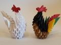 H 4. 3d origami Tyúk, kakas
