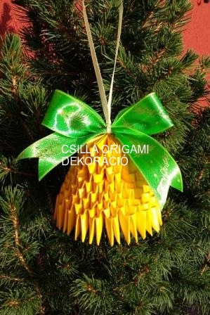 K17.sz 3d origami harang karácsonyfadísz