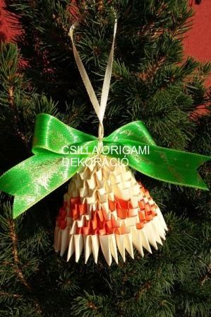 K18.sz 3d origami harang karácsonyfadísz