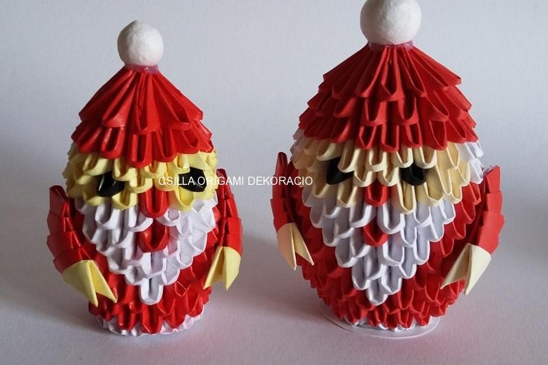 K20.sz. 3d origami Mikulás
