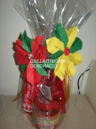 K3.sz. Mikulásvirág ajándékcsomagoló masni