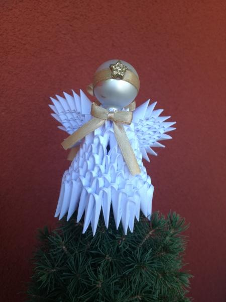 K31.sz. 3d origami angyalka