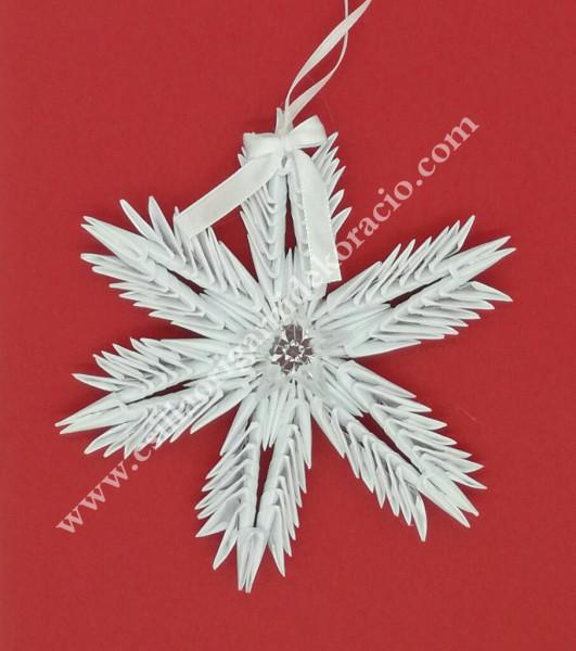 K 55. sz 3d origami hópihe ablak dísz