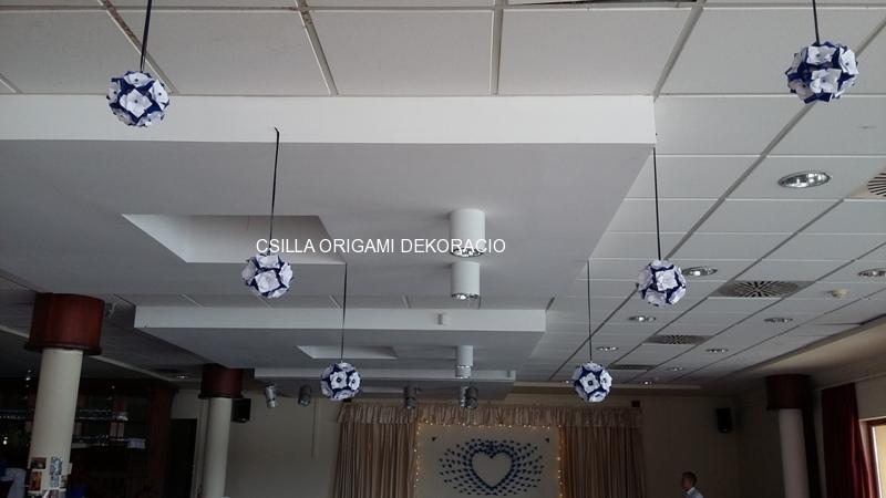 K-F9.sz. Origami liliomos gömb